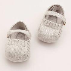 Knitted Booties – Pearl Grey Pepa  Co