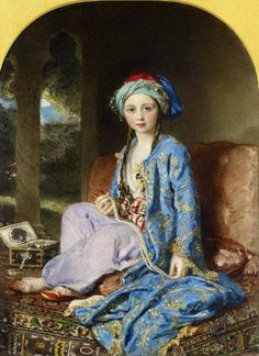 Victoria, Princess Royal, In A Turkish Costume by William Charles Ross (1794-1860)