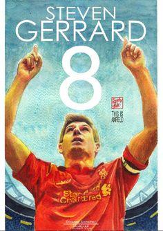 Tonight! We go again.#ClassicLFC Steven Gerrard - #Reds! Liverpool FC #LoveLFC #liverpoolfc #football #thisisanfield #lfc #lovelfc #ynwa #art #drawing #TheKopArtsStudio