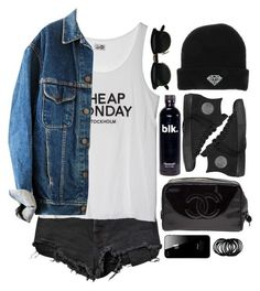 """Grunge"" by moonlightxbby ❤ liked on Polyvore featuring Chanel, Ksubi, Cheap Monday and Converse"