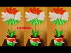 independence day craft ideas india 2021   tricolor craft ideas   best craft ideas - YouTube August Kids Crafts, Crafts For Kids, Arts And Crafts, Toddler Crafts, Preschool Crafts, Independence Day Card, Independance Day, Small Flags, Bottle Centerpieces