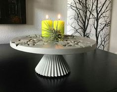 Cement cake plate