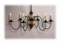 Country Traditions Lighting | Wood Chandeliers