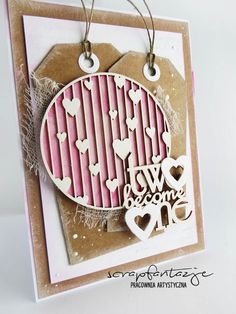 scrapfantazje, wedding card