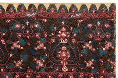 Greek Embroidery, circa A very finely embroidered silk textile, richly decorated by Ottoman style motifs. Mounted on a wooden stretcher. Greek Traditional Dress, Contemporary Decorative Art, Naive Art, Embroidered Silk, Flower Art, Folk Art, Art Decor, Needlework, Bohemian Rug