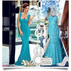 Classy Mermaid Lace Zipper Empire Sweetheart Prom Dresses - Okdress.co.uk - 16 by bebushkaj on Polyvore featuring moda, Casadei, Jimmy Choo, Allurez and Sirena