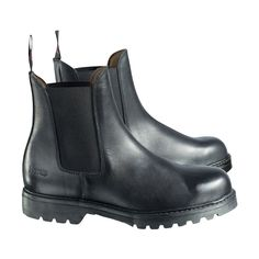These waterproof, steel-toed paddock boots have a soft textile lining with a spongy insole for comfort. These paddock boots are made of leather with elastic sides. The anti-slip/anti-static rubber sole provides comfort and style while the boot is CE certified.