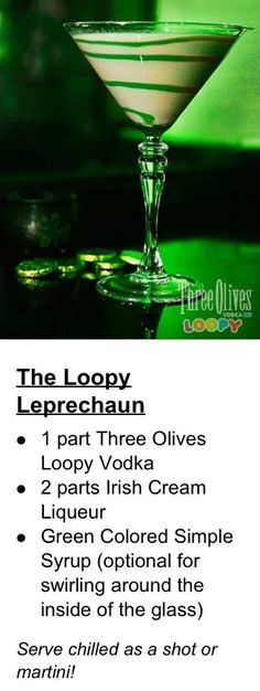 St Patties Day Drink - The Loopy Leprechaun