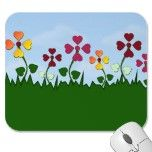 Field of Heart Flowers Mousepad