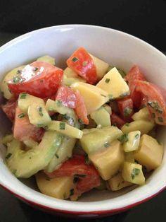 Salade pomme de terre concombre et tomate