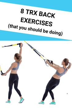 8 Awesome TRX back exercises for strength, toning and fat burning. Do this upper body workout routine at home, at the park, or anywhere. Includes lower back stretch, and exercises to strengthen your lower, mid and upper back. Beginners TRX workouts for women and for men to work arms and back. #workoutsforwomen #workoutsformen #workoutsforbeginners #exercises #upperbodyworkout Trx Suspension Trainer, Suspension Training, Group Fitness, Fitness Tips, Fitness Motivation, Fitness Workouts, Pilates Studio, Pilates Reformer, Pilates Yoga