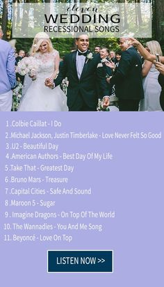 Are you looking for the best recessional songs for your wedding? Then this is your lucky day! We are so excited to share with you today an amazing list of