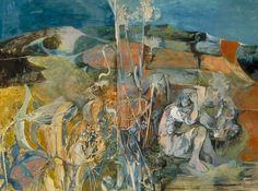 Summer Landscape, 1943 by John Minton. John Minton, Caribbean Art, Royal College Of Art, Summer Landscape, National Portrait Gallery, Portrait Art, The Guardian, Figurative Art, Contemporary Artists