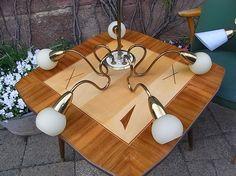 Vintage Kronleuchter - mid century Design Deckenlampe Lampe - ein Designerstück von artdecoundso bei DaWanda