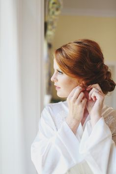 bride getting ready, w & e photographie