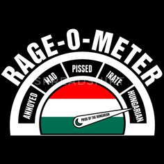 Hungarian T-Shirts - Rage O Meter Hungarian - Men's Premium T-Shirt black