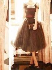 ドレス-ロング レトロでエレガントなチュチュドレス