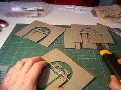 Puente de piedra Kibri, ref.: 39720. Parte I.  Uno de los elementos típicos que no puede faltar en una maqueta, son los puentes.  Dentro de la maqueta irán dos puentes, uno de vía doble y otro de vía sencilla.  Iniciamos la construcción del puente de piedra, ref.: 39720 de Kibri.