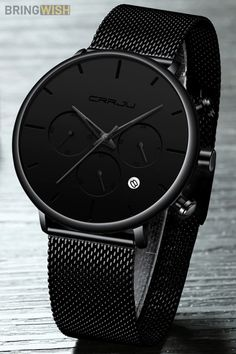 Tineso Luxury Dress Black Stainless Steel Mesh Watch - Care - Skin care , beauty ideas and skin care tips G Shock Watches Mens, Best Watches For Men, Mens Sport Watches, Men's Watches, Wrist Watches, Stainless Steel Mesh, Stainless Steel Bracelet, Fashion Black, Luxury Fashion