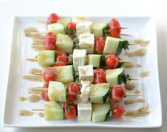 Greek Salad Skewers ... easy party food!