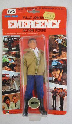MOC 1979 LNJ TOYS EMERGENCY! TV JOHN GAGE ACTION FIGURE RANDOLF MANTOOTH SWAT | eBay