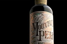 Mountain Peak Espresso Rum on Packaging of the World - Creative Package Design Gallery Foil Stamping, Packaging Design Inspiration, Whiskey Bottle, Rum, Espresso, Liquor, World, Gallery, Island