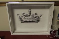 eBay Australia: French Crown serving tray. Shabby Chic finish.