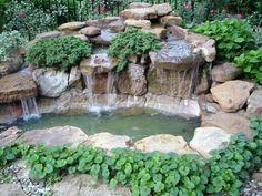 Képtalálat a következőre: pond with waterfall