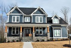 Craftsman House Plan with Main Floor Game Room and Bonus Over Garage - Architectural Designs - House Plans Garage House Plans, Craftsman House Plans, Craftsman Porch, 2story House Plans, Two Story House Plans, Architecture Design, Exterior House Colors, Garage Exterior, Craftsman Exterior Colors