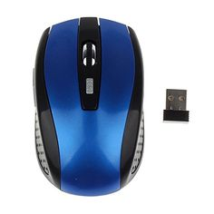 Portable 2.4 GHZ wireless optical mouse(blue) >>> This is an Amazon Affiliate link. Click image to review more details.