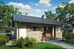 Zdjęcie projektu Ricardo Plus SZ Custom Home Designs, Custom Homes, Story House, My House, Small Bungalow, House Floor Plans, Building A House, Outdoor Structures, House Design