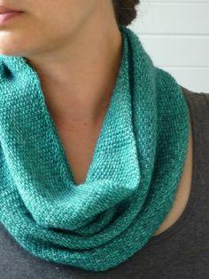 Linen stitch Cowl - use long self stripe wool