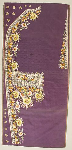 Embroidered panels for a man's suit- 1780's