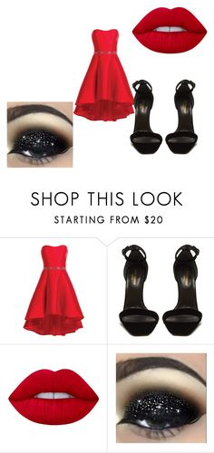 """Cute Outfits"" by lexidonovan123 on Polyvore featuring beauty, Alyce Paris, Yves Saint Laurent and Lime Crime"