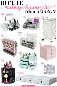 Looking for a cute makeup organizers to make your collection more neat? Check out these ten picks you can buy on Amazon to display and sort your products.