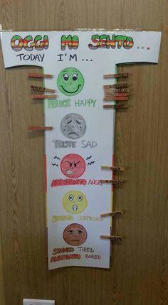 Cartellone delle emozioni Autism Activities, English Activities, Infant Activities, Classroom Activities, English Primary School, Teaching English, Creative Teaching, Teaching Kids, Kids Daycare