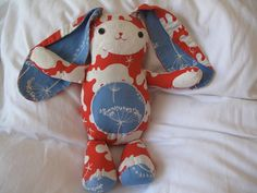 The Mary Frances Project: Jack Rabbit Softie - Free Pattern (baby's 1st Easter memory bunny)