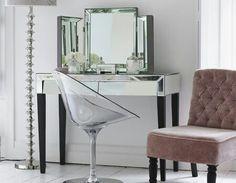Tocador moderno en pinterest tocadores salas de estar for Espejos rectangulares plateados