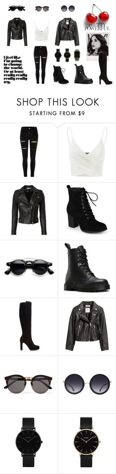 """""""Badass"""" by kikobear13 ❤ liked on Polyvore featuring River Island, Doublju, IRO, Journee Collection, Dr. Martens, Dune, H&M, Illesteva, Alice + Olivia and CLUSE"""