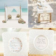 Beach theme wedding inspirations featuring our sea urchin place cards.      #beachwedding #beach #seaurchin #placecardholder #weddingdecoration  #beachtheme #weddingdecor #photodecor #photoholder #uniqueframe #weddinginspiration #brides