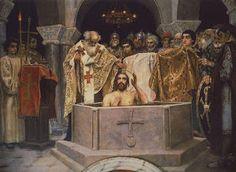 BLOGUL PROIECTULUI 'THEODIALOGIA' > Blog Project Theological: Saint Vladimir the Great being baptized, Knjaz of Kyiv