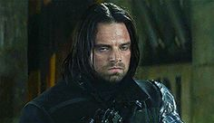 Hello my darling. Why so sad? Please smile more. I really don't want pouty Bucky the whole movie. Just punch Iron Man up a bit. Then go cuddle with Clint, Sam, and Steve.