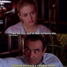 Find images and videos about Clueless and alicia silverstone on We Heart It - the app to get lost in what you love. Tv Show Quotes, Film Quotes, Iconic Movies, Old Movies, Men Quotes, Funny Quotes, Pretty When You Cry, Clueless Quotes, In And Out Movie
