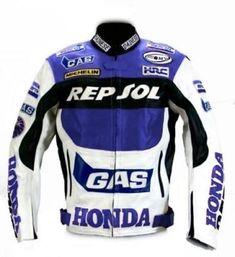 5ba504ca947 Honda Motorcycle Motorbike Racing Leather Jacket Men Women With Protectors  - Outerwear Motorbike Jackets