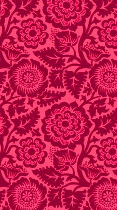 Pink red velvet paisley damask floral iphone phone background wallpaper lock screen