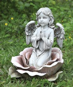 Take a look at this Angel & Rose Figurine by Roman, Inc. on #zulily today!