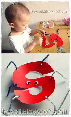 """""""S"""" craft spider good idea for kids learning their letters/alphabet"""
