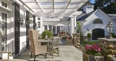 Elegant Home of the Month: Rec Room Reinvented - Brooks & Falotico Outdoor Living Space, Outdoor Rooms, Outdoor Decor, Beautiful Outdoor Living Spaces, Rec Room, Elegant Homes, Outdoor Spaces, Southern Porches, House Exterior