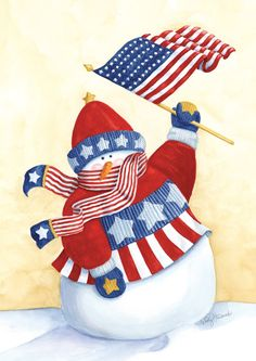 d174b3205d3cd Amazon.com   Toland Home Garden Star Spangled Snowman 12.5 x 18-Inch  Decorative USA-Produced Garden Flag   Outdoor Flags   Patio