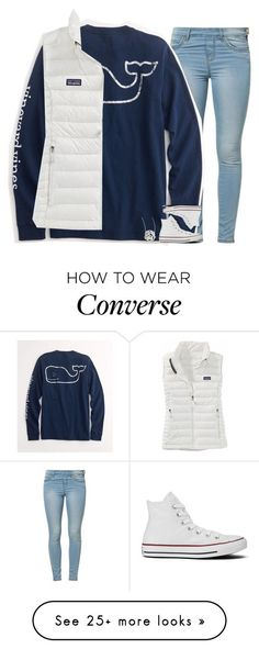 """Do the shoes match?"" by evieleet on Polyvore featuring Jane Norman, Vineyard Vines, Patagonia, Converse, Jennifer Zeuner, women's clothing, women, female, woman and misses:"